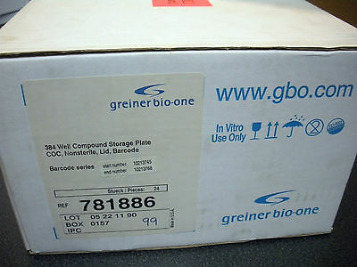 Greiner Bio-One 781886 384 Well Cycloclear Coc Microplate Gbo Lab (1 Case) New