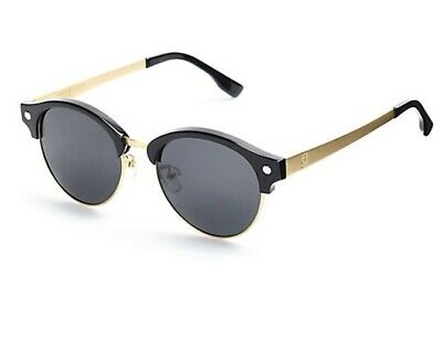 5225c4a9be96 GLASSY SUNHATERS RIDLEY Classic Rounded Metal Sunglasses Gold Smoke ...