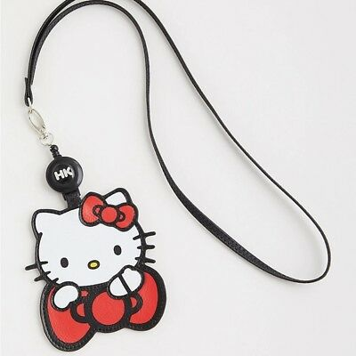 045f2d56e HELLO KITTY Lanyard ID Badge Halloween Party Card Holder Loungefly Sanrio  Torrid