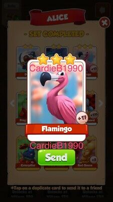 X1 Flamingo Coin Master trading card !!!Super Fast Dispatch!!!