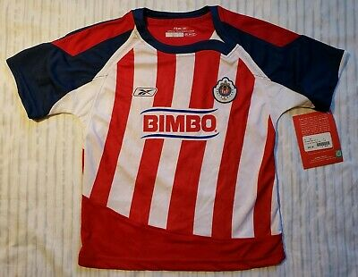 b6e9987c6 Reebok NWT Chivas Official Team Home Soccer Jersey Youth Size Small Marked  $50