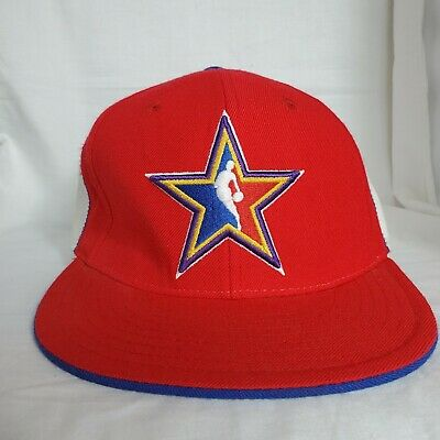 cheaper b3a81 0df37 NBA All Star Game West Hat Los Angeles 2004 Red White Blue Fitted 7 1