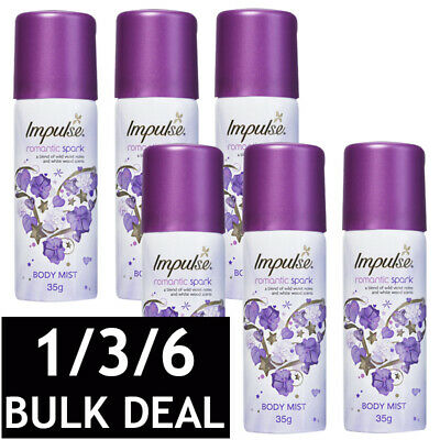 IMPULSE ROMANTIC SPARK WOMAN BODY SPRAY LADIES PERFUME FLORAL FRAGRANCE 50mL