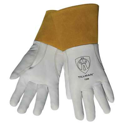 "Tillman 1338 Top Grain Goatskin TIG Welding Gloves with 4"" Cuff, Small"