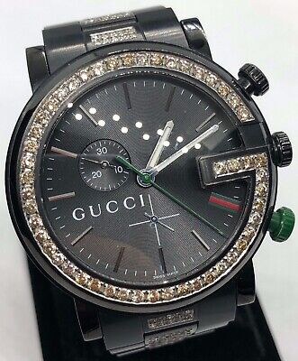 c857b881519 GUCCI G-TIMELESS MEN S 12 DIAMOND 38mm QUARTZ WATCH YA126456 NEW BOX ...