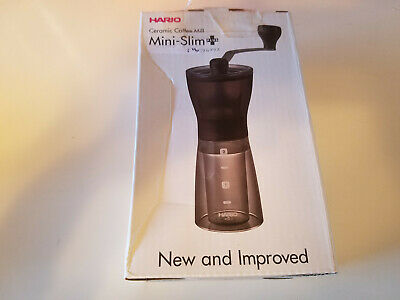 Hario Ceramic Coffee Mill Grinder Mini-Slim Plus MSS-1 DTB 1-2 Cups Japan Import