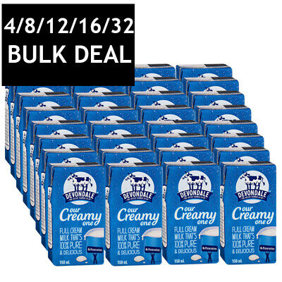DEVONDALE LONG LIFE FULL CREAM MILK  NO PRESERVATIVES AUSRALIAN 100% PURE 150mL
