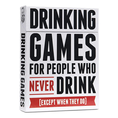 Drinking Games For People Who Never Drink Card Game NEW