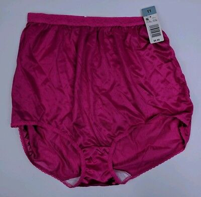 db161a8a49b7 Kmart Junior's 11 Underwear Panties Nylon Briefs Pink Lacey Sheer VTG NWT  K16