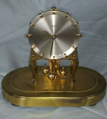 Kundo Anniversary Clock -  Kieninger & Obergfell Glass Dome West Germany