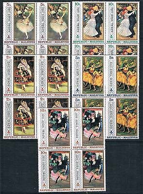 Maldive Is 1972 Royal Visit BLOCKS 4 SG 387/91 MNH