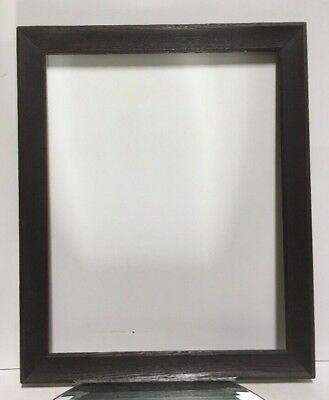 "VTG. Arts and Crafts Mission Fumed OAK Picture Frame Fits 13 1/2"" x17"""