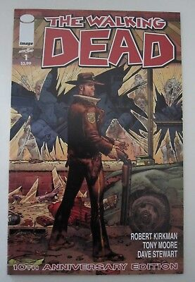 THE WALKING DEAD #1 9.8 NM Unread 10th Anniversary Edition