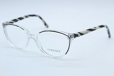bfee62bf53089 NEW VERSACE MOD. 3157 960 CLEAR BLACK AUTHENTIC EYEGLASSES RX MOD.3157 Rx