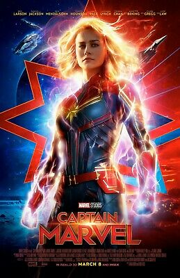 Captain Marvel movie poster (b)  Brie Larson - 11 x 17 inches