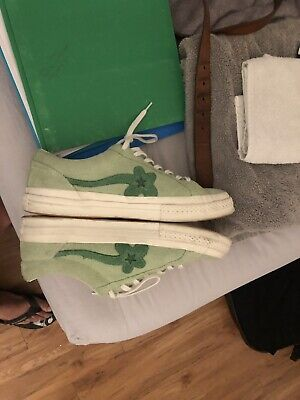 ce4e30828263 CONVERSE ONE STAR X TYLER THE CREATOR GOLF Le FLEUR JADE LIME GREEN SIZE  10.5