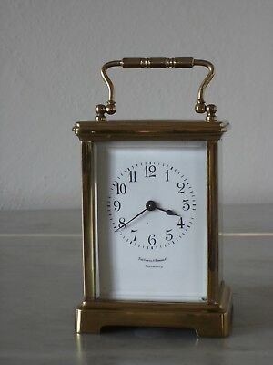 Antique French Brass Carriage Clock, ca 1890-1920