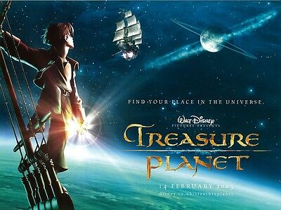 Treasure Planet movie poster : Walt Disney - 12 x 16 inches - Treasure Island