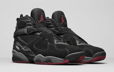 on sale b3a49 b4f00 Nike Air Jordan 8 VIII Retro Black Cement Size 9-11 Bred Gym Red Grey