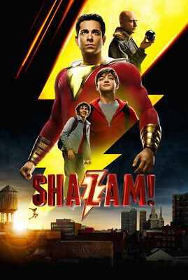 Shazam Movie Super Hero Large Poster Art Print Giant A0 to A5 Small Sizes