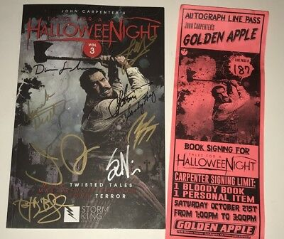 John Carpenter + 8 Hand Signed TALES FOR A HALLOWEEN NIGHT VOL 3 Book PROOF