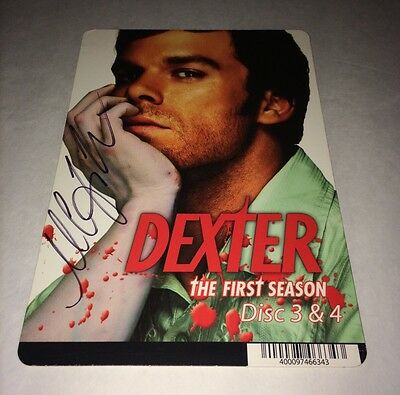 Michael C. Hall DEXTER Hand Signed DVD Backer Card Authentic Autograph PROOF
