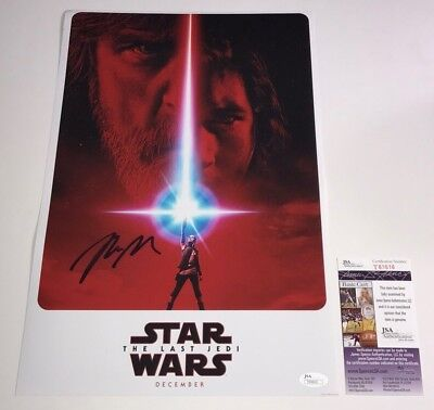 Rian Johnson STAR WARS THE LAST JEDI Signed 11x17 Photo Autograph PROOF JSA COA