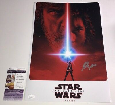 Rian Johnson STAR WARS THE LAST JEDI Signed 12x18 Photo Autograph PROOF JSA COA
