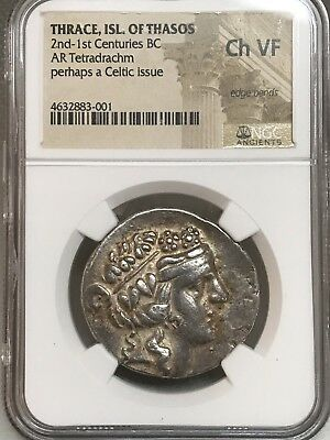 Thrace 2nd Century BC AR Tetradrachm NGC Choice VF!!  4632883-001