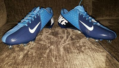 87c03b9bfe6f5 NIKE Vapor Pro Low D Football Cleats SZ 14.5 Light   Navy Blue Style 544760  431