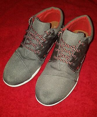 01ee3df6300d TOMS YOUTH BIMINI NWOB Size 12 Drizzle Grey Rose Gold Foil Polka Dot ...