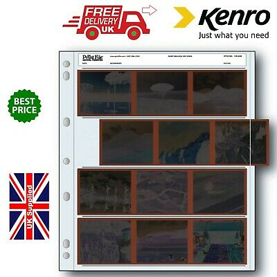 Kenro 120mm Negative Acetate File Pages Pack of 100 (UK Stock)