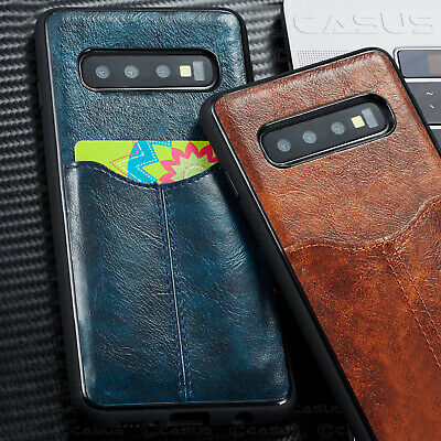 Slim Card Slot Leather Ultra Thin Wallet Case Cover For Galaxy S10/S9/S8+ Plus