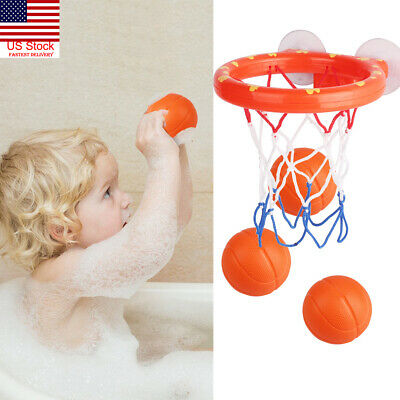 Baby Kids Bath Basketball Hoop Set With 3 Balls Mini Baby Tub for Toddlers Play