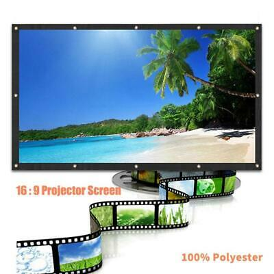 Projector Screen 120 -60inch Portable Foldable 16:9 Home Theater HD 3D 4K Movie