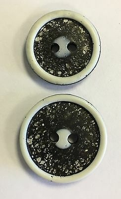 Black / White Textured Buttons 18mm/20mm Pack Of 10