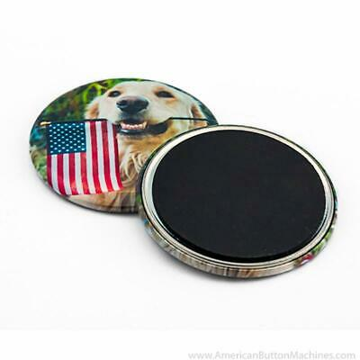 """100 2.25"""" Self-Adhesive Magnet Set BLANKS American Button Machines"""