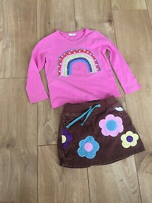 Mini Boden Top And Skirt Age 2-3