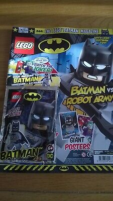 Lego Batman Magazine Special Edition Feb-March 2019 Giant Posters, Toy, Mask