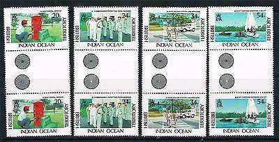 British Indian Ocean Territory 1991 Admistration GUTTER PAIRS SG111/4 MNH