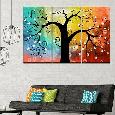 Abstract Flower Tree Canvas Print 3 Pieces Paintings Wall Home Decor
