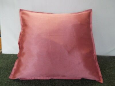 24 inch EXTRA LARGE GIANT CUSHION PLAIN ROSE PINK FAUX SILK