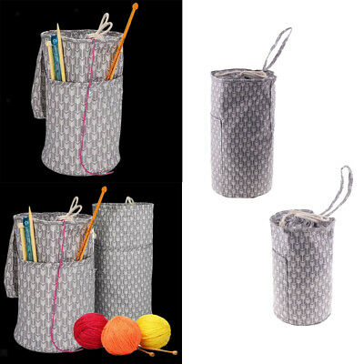 DIY Storage Knitting Crochet Needle Craft Holder Case Yarn Storage Bags S/L