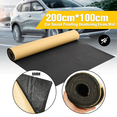 200X100CM Roll Car Sound Proofing Insulation Foam Mat Deadening Closed Carpets