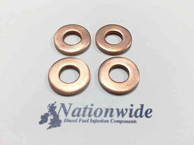 Citroen DS4 1.6 HDi 16v Common Rail Diesel Injector Washers//Seals x 4