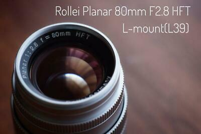 "From JAPAN ""Limited edition Rollei Planar 80mmF2.8 HFT L mount L39"" Lens RARE"