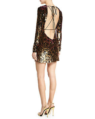 huge discount bb5d8 35ebd NEW WITH TAGS - Roberto Cavalli RUNWAY LINE - Sequin Leopard Backless Mini  Dress