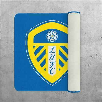 NEW *OFFICIALLY LICENCED* LEEDS UNITED FC LUXURY RUG non slip 80cm x 80cm