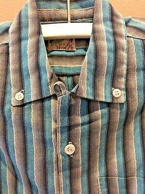 Vintage 1950s William Tell Shirt Rockabilly Striped Cotton Boys