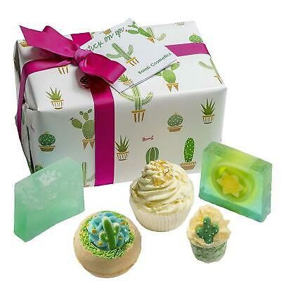 Bomb Cosmetics Stuck On You Cactus Gift Set Luxury Handmade Bath Wrapped Box